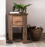 Coleridge Solid Wood Rustic Telephone Table with Drawer